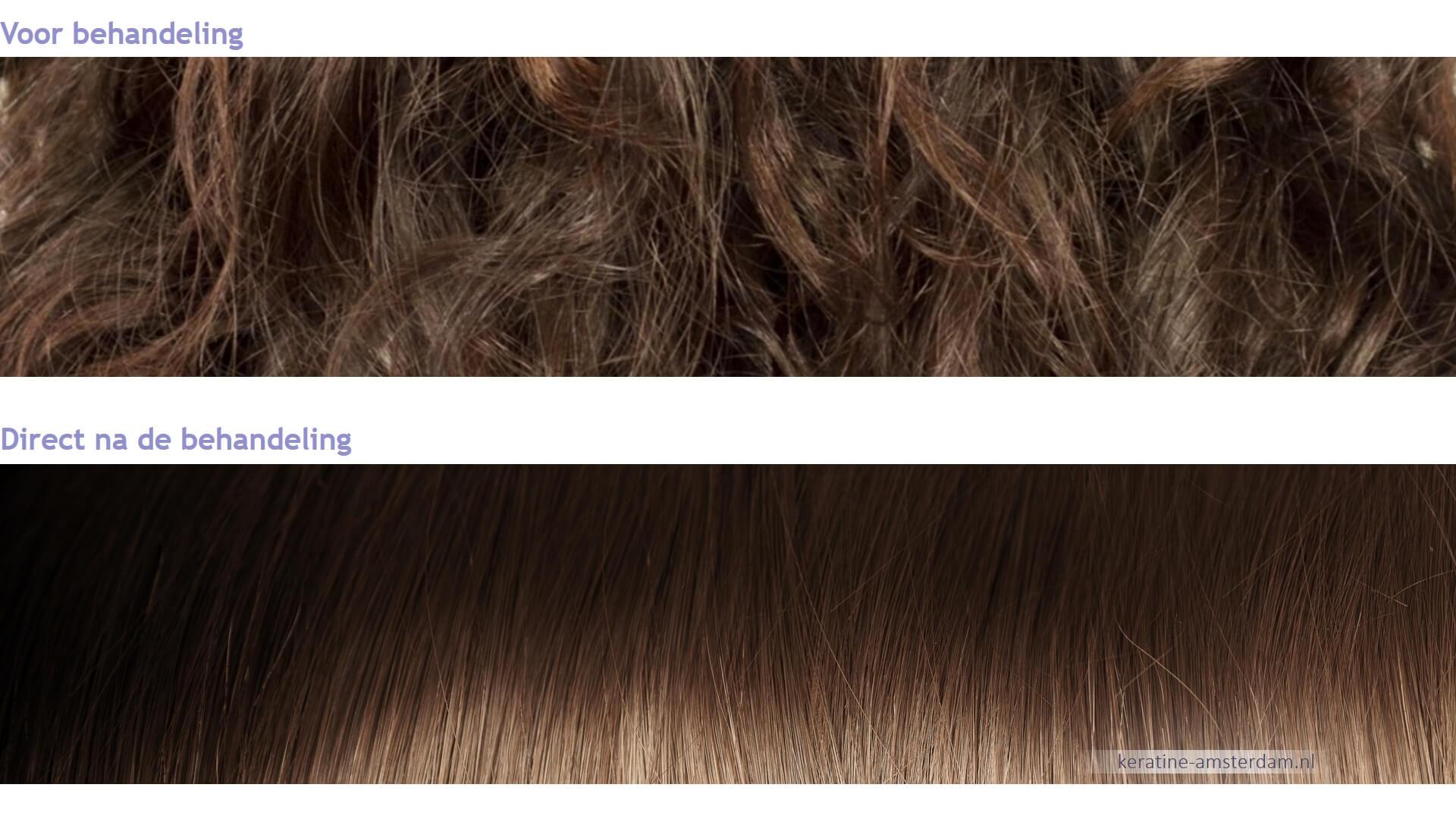 keratine ervaringen behandeling voor en na resultaten LysandroCiclia hairstyles amsterdam centrum