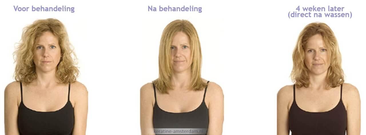 Keratine behandeling Amsterdam blond haar