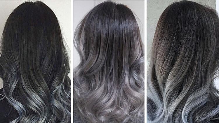 Silver hair haar verven voorbeelden
